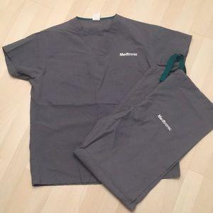 Medtronic Grey Scrubs Set
